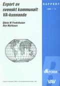 Export av kommunalt VA-kunnande