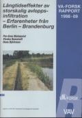 Långtidseffekter av storskalig avloppsinfiltration -Erfarenheter från Berlin-Brandenburg