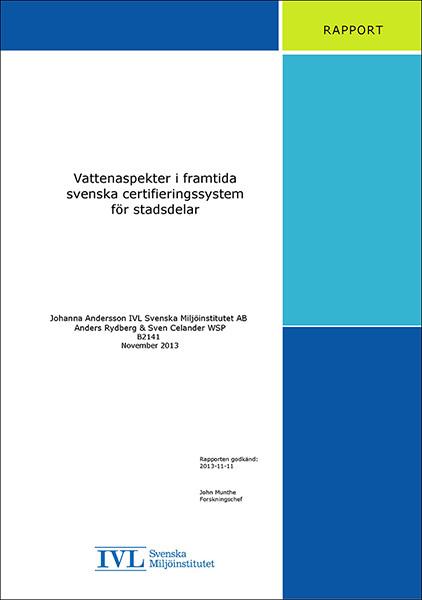 Vattenaspekter i framtida svenska certifieringssystem för stadsdelar