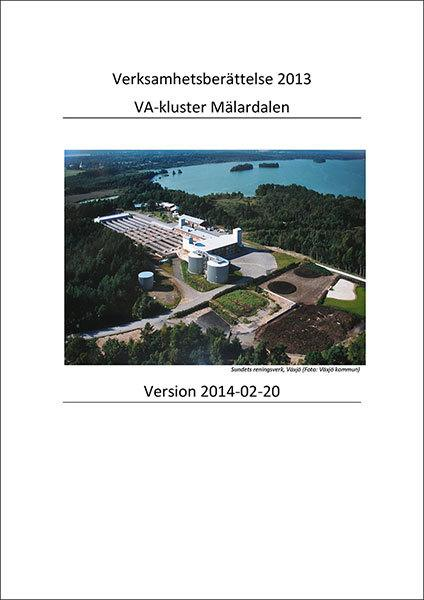 Verksamhetsberättelse VA-kluster Mälardalen 2013