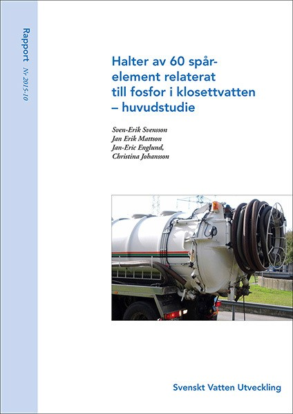 Halter av 60 spårelement relaterat till fosfor i klosettvatten – huvudstudie