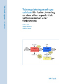 Tvåstegslakning med syra och bas för fosforutvinning ur slam efter superkritisk vattenoxidation eller förbränning