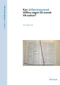 Kan driftentreprenad tillföra någon till svensk VA-sektor?