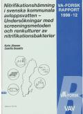 Nitrifikationshämning i svenska kommunala avloppsvatten