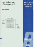 Hur tolkas en LCA-rapport