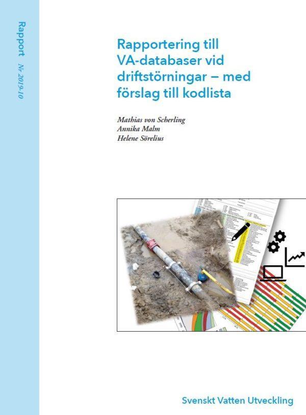 Rapportering till VA-databaser vid driftstörningar