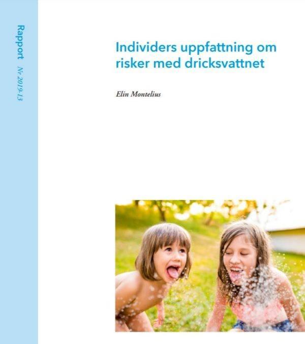 Individers uppfattning om risker med dricksvattnet