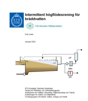Intermittent högflödesrening för bräddvatten