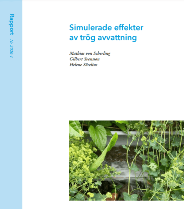 Simulerade effekter av trög avvattning